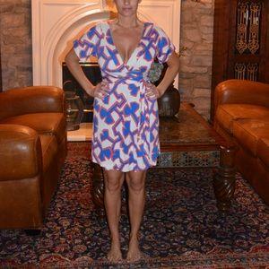 Diane von Furstenberg, Patriotic Wrap Dress,Size 6